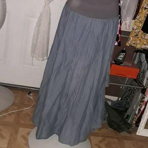 Extra long cotton skirt